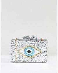 Liquorish | Glitter Evil Eye Clutch | Lyst