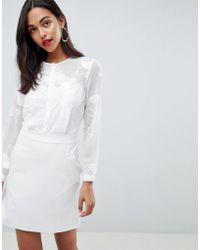 Reiss - Rosemary Lace Top Pocket Dress - Lyst