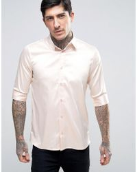 Rogues Of London - Skinny Satin Shirt - Lyst