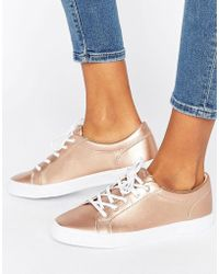 Pull&Bear - Metallic Trainer - Lyst