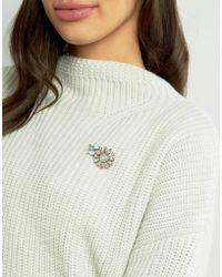 ASOS - Jewel Flower Brooch - Lyst
