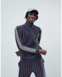 Jaded London - Track Top In Rainbow Stripe With Side Stripe - Lyst
