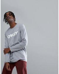 Oakley | 50-mark Ii Long Sleeve Top Logo Front In Grey Marl | Lyst