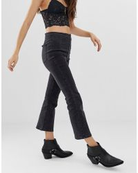 Free People - Ultra High Cropped Bootcut Jeans - Lyst
