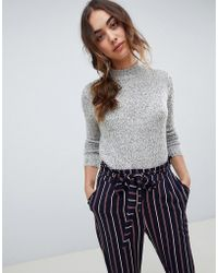 Vero Moda - High Neck Knitted Sweater - Lyst
