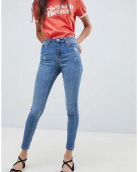 Miss Selfridge - Skinny Jeans In Mid Wash - Lyst
