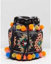 2f3f8c79e377 Lyst - Jérôme Dreyfuss Popeye Cream Festival Leather Bucket Bag in ...