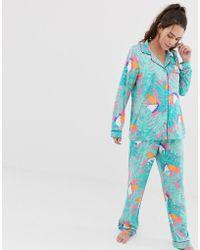 Chelsea Peers - Toucan Printed Revere Pyjama Set - Lyst
