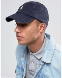Polo Ralph Lauren - Baseball Cap With White Player Logo In Washed Navy - Lyst