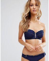 Floozie - Navy Longline Uw Bikini Top B - E Cup - Lyst