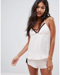 Glamorous - Cami Set Nightwear - Lyst