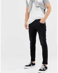 Solid - Slim Fit Jean Washed Black - Lyst