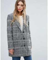 First & I - Checked Tailored Coat - Lyst