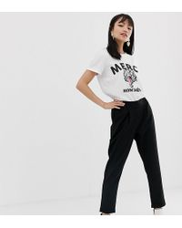 Noisy May Petite - Cigarette Pant - Lyst