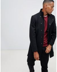Only & Sons - Funnel Neck Overcoat - Lyst