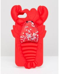 Skinnydip London - Red Lobster Squeezy Glitter Silicon Iphone Case 6/7/8/s - Lyst
