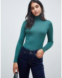 Oasis - Polo Neck Jumper In Teal - Lyst