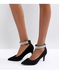 New Look - Point Gem Ankle Strap Court - Lyst
