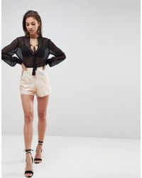 Finders Keepers - Insomnia Print Shorts - Lyst