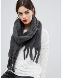 French Connection Pepa Fluffy Oversized Scarf
