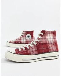 Converse - Chuck Taylor All Star '70 Hi Trainers In Burgundy 162403c - Lyst