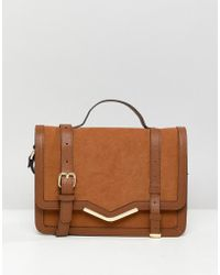 ASOS - V-bar Structured Satchel Bag - Lyst