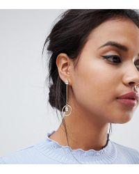 Accessorize - Swarovski Drop Hoop Gold Statement Earrings (+) - Lyst