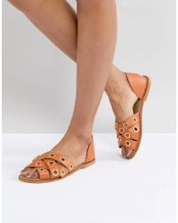 ASOS - Justify Leather Summer Shoes - Lyst