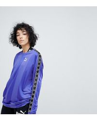 PUMA - Exclusive To Asos Football Jersey In Purple With Taping - Lyst