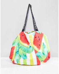 Jaded London - 2 In 1 Watermelon Towel Bag - Lyst