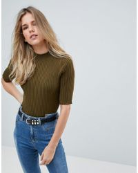 First & I - High Neck Top - Lyst
