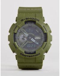 G-Shock - G-shock Ga-110lp-3aer Digital Silicone Watch In Green - Lyst