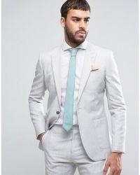 Reiss - Slim Suit Jacket In Linen - Lyst