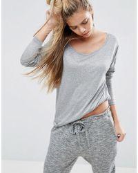 ASOS - Long Sleeve Curve Hem T-shirt - Lyst