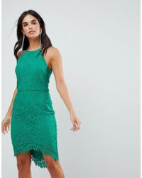 Adelyn Rae - Louise Fishtail Sheath Lace Dress - Lyst