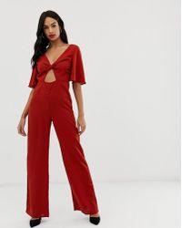 058ab7dfdb Fashion Union - Twist Front Jumpsuit - Lyst