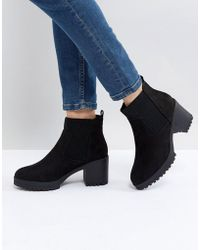 New Look - Chunky Cleat Sole Boot - Lyst