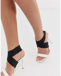 Lipsy - Barely There Heeled Sandal With Elastic Strap Detail - Lyst