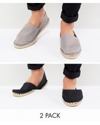 ASOS - Lot de 2 espadrilles pointure large en toile - Lyst