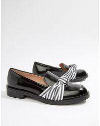 Pull&Bear - Twist Detail Loafer In Black - Lyst