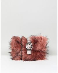New Look - Fur Buckle Clutch - Lyst