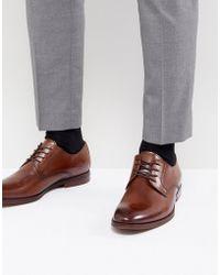 ALDO - Yilaven Leather Derby Shoes In Tan - Lyst