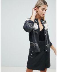 Fashion Union - Cardigan In Fairisle Knit - Lyst