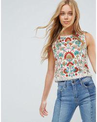 Pepe Jeans - Rustic Floral Singlet Top - Lyst
