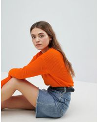 Boohoo - Knitted Crew Neck Jumper - Lyst