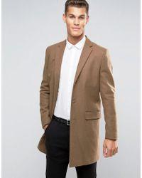 New Look - Wool Overcoat In Camel - Lyst