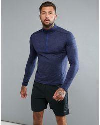 Saucony - Running Run Strong 1/4 Zip Sweat In Purple Sam800023-midh - Lyst