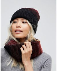 French Connection | Knitted Scarf And Beanie Hat Set | Lyst