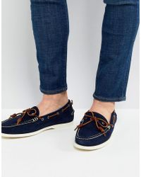 Polo Ralph Lauren - Millard Suede Slip On Boat Shoes In Navy - Lyst