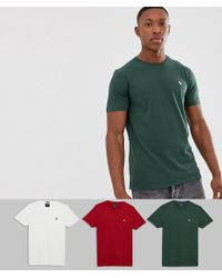 Abercrombie & Fitch - 3 Pack Icon Logo T-shirt In Red/white/green - Lyst